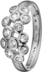 Кольцо CC 800-3.13.A/61 Champagne Love silver  - Дека