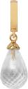 Christina Charms hangers - crystal quartz drop 610-G01Crystal